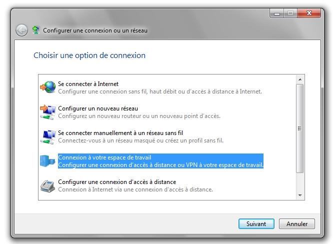 configuration vpn windows